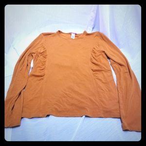Anne Klien Women's Orange Sweater Stretch Sz L